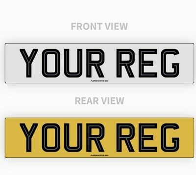Pair Hi-Line Car Number Plate's 100% Road Legal Mot Compliant, High Quality