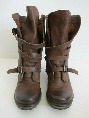 f0a10ba0ff9 STEVE MADDEN BANDDIT Brown Leather Buckle Slouch Boot Women s Size ...