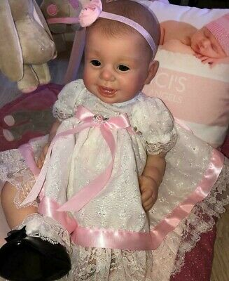 Lebensechte Puppen ADOREABLE REBORN BABY GIRL~URIEL BY PRISCILLA LOPEZ~MICRO ROOTED HAIR~NR~SALE