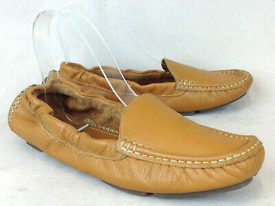 b63bef27090 Mercanti Fiorentini Sz 7.5 B Womens Brown Soft Leather Driving Moc Loafers  Shoes