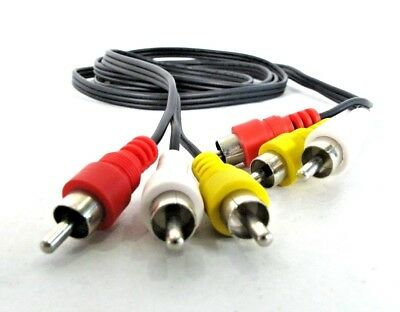 3 Mini RCA Red Yellow White Composite Video Audio AV Cable - 6 FT {2 pack)