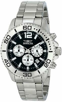 Invicta Men's 17396 Pro Diver Chronograph 45mm Black Dial Stainless Steel Watch