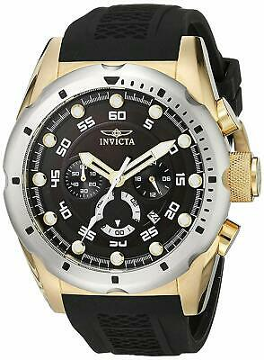 Invicta 20309 Speedway Men's 50mm Chronograph Gold-Tone Steel Black Dial