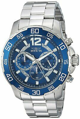 Invicta Men's 22713 Pro Diver Chronograph 45mm Blue Dial Steel-Tone Watch