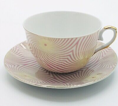 Yamasen 24k Gold Collection Pink And Gold Teacup And Saucer - GORGEOUS!!