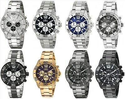 Invicta 173-174 Men's Pro Diver Chronograph 45mm - Choice of Color