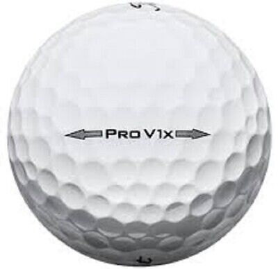 72 Near MINT Titleist Pro V1X 2014 AAAA Used Golf Balls + 50 Pack Bamboo Tees