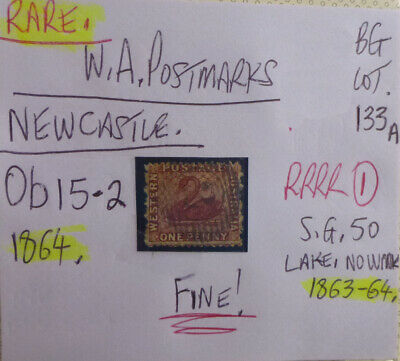 Old West Australia Postmark On Swan Stamp Newcastle 1864