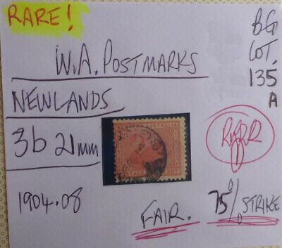 Old West Australia Postmark On Swan Stamp Newlands 1904-08