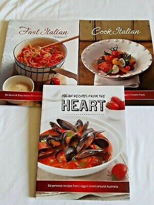 3 LEGGO'S ITALIAN COOK BOOKS Bulk Lot!