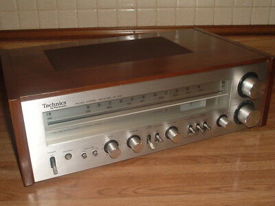 Nice Vintage Technics Sa-300 Am Fm Silver Face Stereo Receiver Clean & Working.