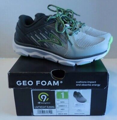 d9d2c24e91b NEW Boys  Performance Athletic Geo Foam Shoes Connect 3 C9 Champion Grey  Size 1