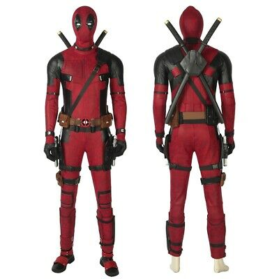 Deadpool 2 Wade Wilson Cosplay Costume Version 2 Full Suit Outfit