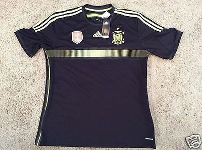 new styles a9f19 ce0ad BARCELONA SPAIN BARCA Adidas Soccer black World Cup Football Jersey XL mens  NEW