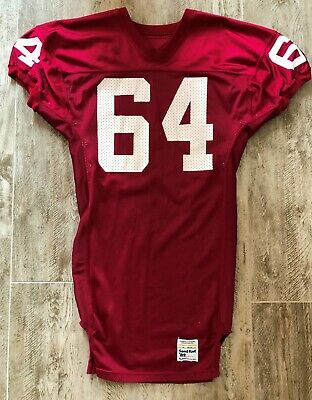 98eadf5db5b Vintage Sand Knit Game Used Phoenix Cardinals Todd Peat #64 Red Football  Jersey