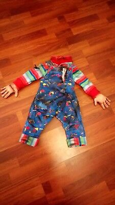 Life Size Chucky Doll Corduroy Overals And Silicone Hands(Bride Of Chucky)