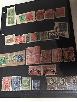 EARLY PRE-DECIMAL AUSTRALIAN STAMPS On And Off PPR - Pls Inspect Photos