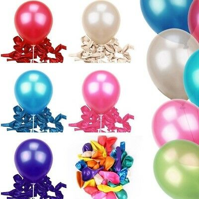 10 inch 100pcs Colorful Latex Pearl Balloon Wedding Birthday Bachelorette Party