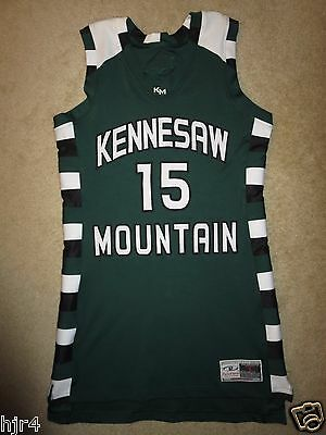 Kennesaw Mountain High School Mustangs KMHS Basketball Game Used Jersey LG L