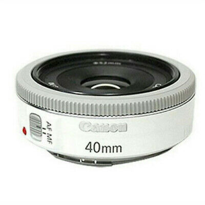 Canon EF 40mm f/2.8 STM Pancake Lens (Bulk Package) - White
