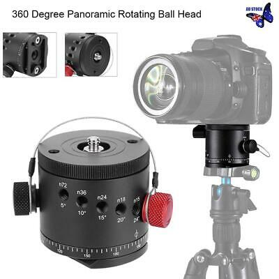 AU DH-55D 360° Rotating Aluminum Panoramic Tripod Ball Head + Storage Bag Black