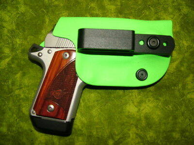 Look!!! Super Nice Left Iwb Lime Green Kydex Holster Hand Made Fitted
