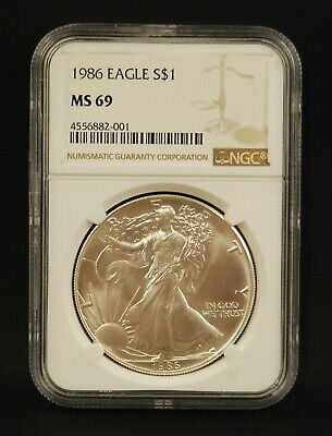 1986 American Silver Eagle 1 oz - NGC MS69