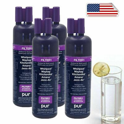4pak Every Drop1.Whirlpool FILTER1.EDR1RXD1.W10295370A Refrigerator Water Filter