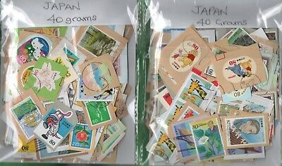 Japan  40 Grams Stamp Kiloware ( On/Off Paper Mix ) Best On The Net!