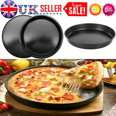 """6/8/9/10"""" Non Stick PIZZA TRAY Carbon Steel Baking Round Oven Tray Pizza Pan"""