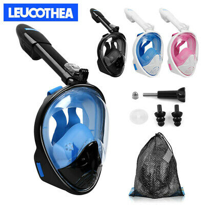 Anti-Fog Swimming Full Face Folding Diving Mask Dry Snorkel Scuba For GoPro New