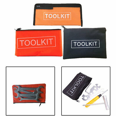 Small Waterproof Oxford Cloth Tool Kit Bag Zip Storage Instrument Case Pouch
