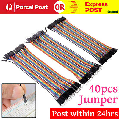 40 pcs Dupont Cable 20cm Jumper Wire for Arduino RPi breadboard - AU Stock