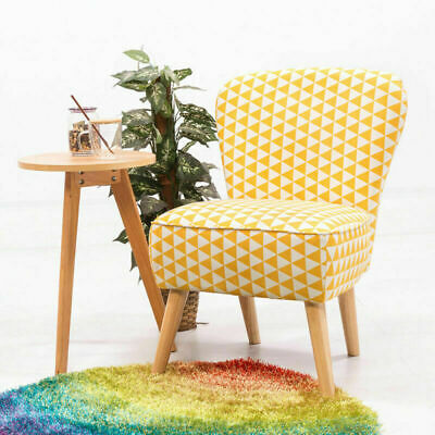 Fabric / Velvet Dining Chairs Chair Upholstered Pad Seat Living Room Tub Chair N