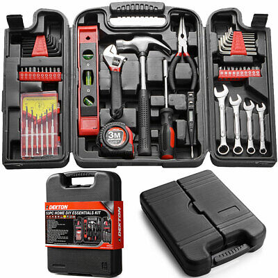 53pc Tool Kit Set Spanner Screwdriver Pliers Drill Screw Bits Hex Keys Wrench