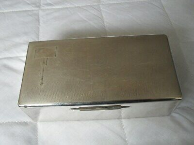 Antique art deco solid silver cigarette box by Walker & Hall hallmarked 1931
