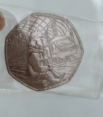 **2018 Paddington Bear At Station! Fifty Pence / 50p *MINT* Uncirculated Coin**