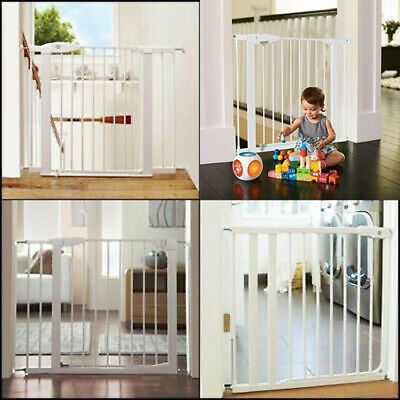 Baby Safety Gate Door Stair Through Walk Fence Child Extension Toddler Pet Kids