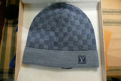 acf73a9860f1 Louis Vuitton Petit Damier Light Blue Beanie Hat