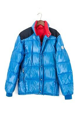 Details about 70`s MONCLER GRENOBLE VINTAGE VERY RARE BLUE DOWN PUFFER JACKET COAT SIZE 2S M