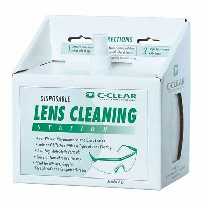 Portwest - Lens Cleaning Station With 600 Lens Cleaning Towelettes White Regular