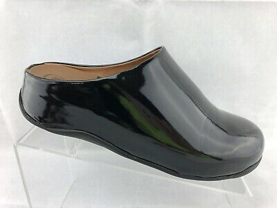 ab2070b57 Fitflop Shuv Clog Sandals Glossy Black Slip On Shoes Women s Size 9