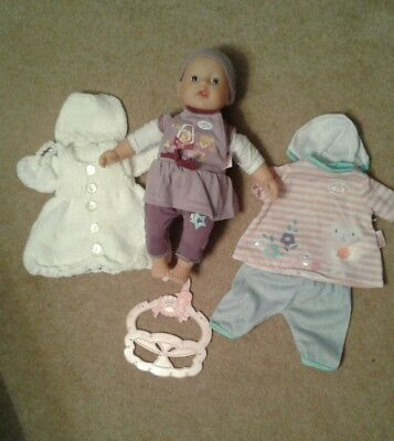 New Zapf Creation  my first  new baby born doll with  3 new outfits