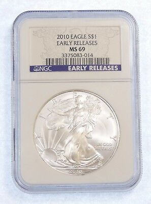 2010 Early Releases  American 1 oz SILVER Eagle $1 NGC MS 69