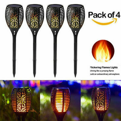 96 Led Large Solar Dancing Flame Torch Lights Garden Outdoor Wedding Party Xmas