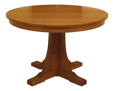 """30607EC: STICKLEY 46"""" Round Mission Oak Dining Room Table"""