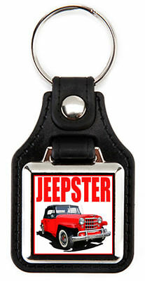 Willys Jeepster and Jeep Station Wagon Key Chain  Key Fob