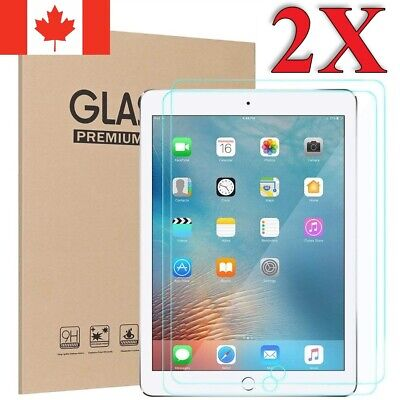 Premium Tempered Glass Screen Protector for Apple iPad [For All Models] (2 Pack)