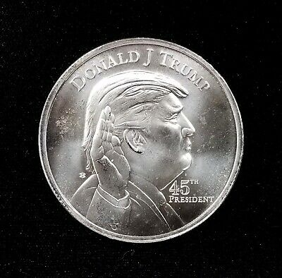 Donald Trump 45th President, One Troy Ounce 0.999 Fine Silver Round! NO RESERVE