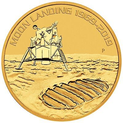 2019 - 1oz Gold Moon Landing 50th Anniversary .9999 BU - Low Mintage!